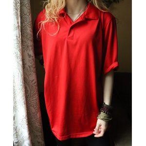izod Cool-FX Series Red Collar Golf Shirt Tee !